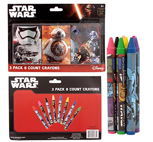 Star Wars The Force Awakens 3 Pack 8-Count Crayons