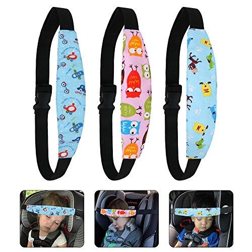 URAQT 3 Pcs Einstellbare Laufställe Schlaf Stellungsregler Kinderwagen Kinderwagen Kindersitz Befestigung Riemen Kopf Halter