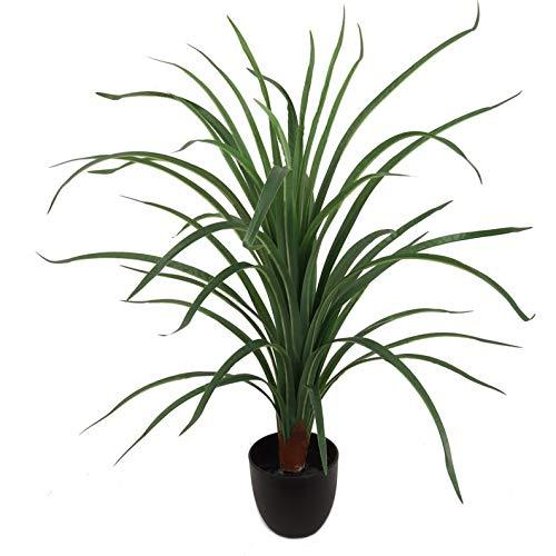 Artificial House Plant Dracaena in Black Pot 28' Tall 40 Leaves Lifelike Silk Floor Plant Home, Office, Party, Wedding Decor