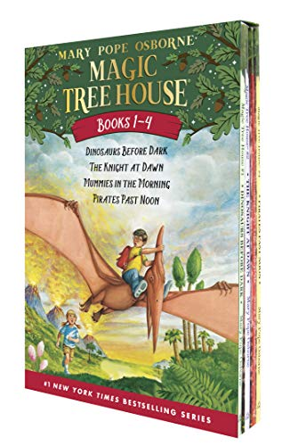 Compare Textbook Prices for Magic Tree House Boxed Set, Books 1-4: Dinosaurs Before Dark, The Knight at Dawn, Mummies in the Morning, and Pirates Past Noon Illustrated Edition ISBN 8580001039374 by Mary Pope Osborne,Sal Murdocca