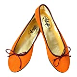 Petruska Ballerinas Delhi Wildleder Orange Klassische Ballerinas aus Spanien (42)