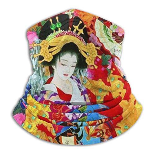 Japanse retro geisha voor meisjes, hals, gamas, warm, winddicht, stofmasker, gezichtskleding, gezichtsmasker, bivakmuts, sjaal, voor wintersport, zwart