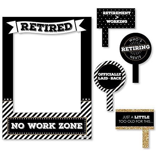 Feliz jubilación–Photocall de jubilación fiesta marco de imagen & props–impreso en Material resistente