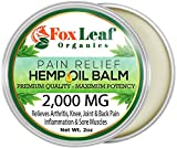 Premium Hemp Oil Balm Salve for Pain Relief w/Arnica + Turmeric for Arthritis & Muscle Pain, Inflammation, Joint & Back Pain Relief - 2000MG Extra Strength - New Unscented Formula - Made in USA - 2oz