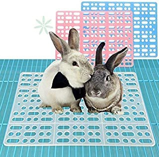 WYOK Rabbit Mats for Cages Rabbit Guinea Pig Hamster and Other Small Animal Cage Hole Mat Prevent Pet Skin Disease with Fixed Tabs