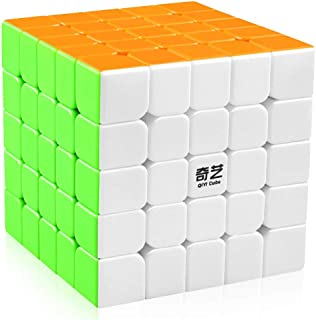5x5 Speed Cube Stickerless Magic Cube Puzzles Toys 62mm