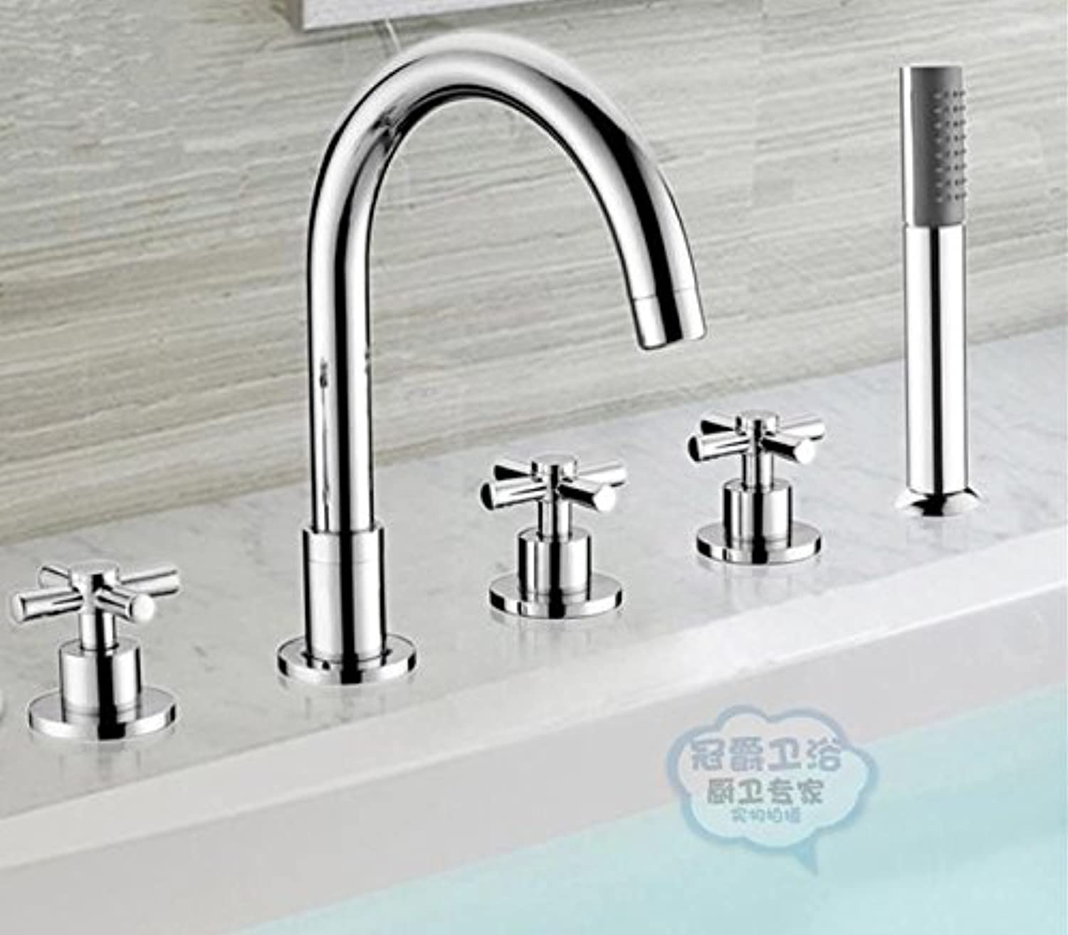 Hlluya Professional Sink Mixer Tap Kitchen Faucet The copper cold water bath split five-piece cylinder leading edge sit-in the office of the five hole Faucet