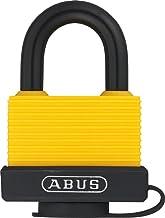 Abus 50873 508738 70AL/45 messing hangslot, 45 mm, met aluminium beugel en speciale bescherming geel 0038810, 45