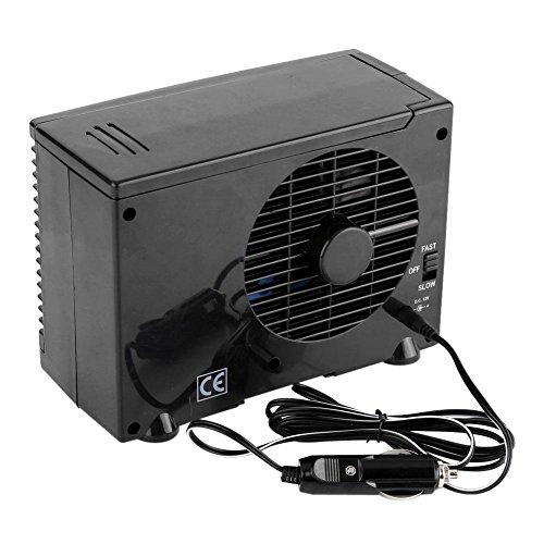 Aeloa Ventilador de enfriamiento para automóvil, Ventilador de enfriamiento por Agua evaporativo portátil Mini Enfriador de Aire de 12 V para camión o hogar (Negro)