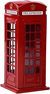 Xiton Cabine téléphonique Tirelire Style Vintage Piggy Money Bank Metal Box Décoration de Table