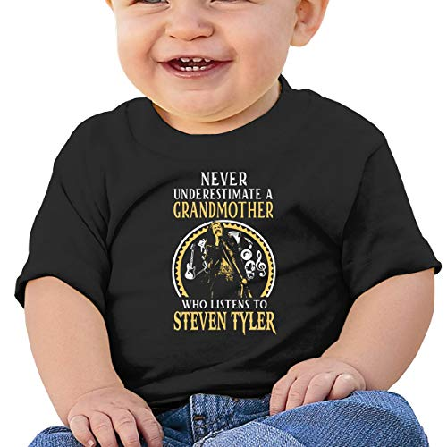 NOT Steven Tyler Grandmother Grandmother Who Listens to Steven Tyler Funny Boys Tee Shirt Cute Black