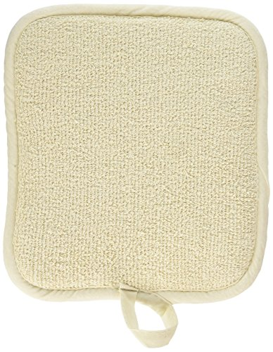 Winco Beige Terry Pot Holder with Pocket, 12-Piece Count, 9.5-Inch by 8.5-Inch