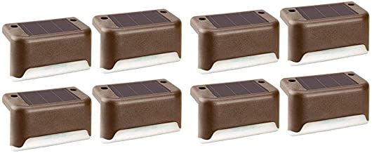 Wination Outdoor Solar Deck Lights, Solar Step Lights Waterdichte LED Solar Lamp voor Outdoor Pathway, Yard, Patio, Trap, ...