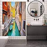 Vinilo de privacidad para ventana, diseño de Venecia, colorido y colorido de Venecia, para el hogar...