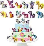 Decoración De Pastel De Unicornio Cake Topper Unicornio Decoración de pastel de cumpleaños de dibujos animados para Cumpleaños Decoración de La Torta del Banquete de Boda 12 Piezas