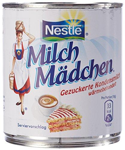 Nestle Milchmädchen gezuckert Kondensmilch, 12er Pack (12 x 400 g Dose)