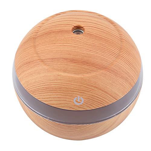 SUYANG Aromaterapia, 300 Ml USB Super Basty Aromatherapy Humidifier Oil Aroma Diffuser Nightlight (Madera Clara)