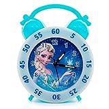 BLFJJYP き クロック 子供の創造的な小さな目覚まし時計▏学生漫画ミュート目覚まし時計▏ファッションかわいい寝室のベッド怠惰な氷雪小さな目覚まし時計 (Color : Blue)