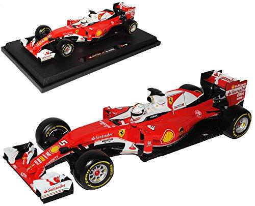 Ferrari SF16-H Sebastian Vettel Nr 5 Formel 1 2016 1/18 Bburago Modell Auto