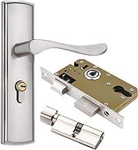 Qrity Deurkruk hendel, Euro hefboom slot, handvat slot, 2 hefboom slot, cilinder, 3 koperen sleutels, zinklegering