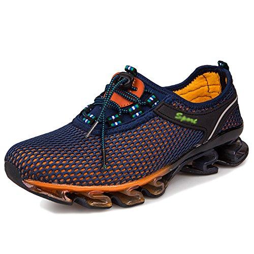 MERRYHE Été Hommes Maille Escalade Chaussures Sport en Plein Air Montagne Chaussures Slip sur Sneakers Randonnée Randonnée Trekking Chaussures,Navy-43