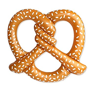 Giant Inflatable Pretzel Pool Float - Summer Fun for the Beach or Pool, Over 5 Feet Wide! Includes Patch Kit