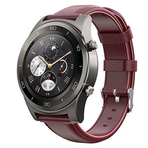 Pulseira UKCOCO compatível com Fossil Gen 4 22 mm – Pulseira de relógio de couro com fivela de metal ajustável para relógios para homens e mulheres