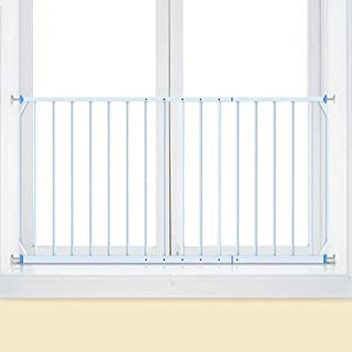 YXSDD Pressure Mounted Window Guard Children Child Safety Window Guards Indoor, White, Metal, Fit 85-335cm (Size : Length ...