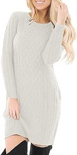 Women's Cable Knit Long Sleeve Winter Sweater Dress