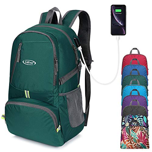 G4Free 40L Upgrade Foldable Backpack Hiking Packable Rucksack Lightweight Travel Handy Outdoor Daypack for Travelling Camping Cycling Hiking