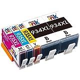 Starink 5 Pack Kompatibel für HP 934XL 935XL 934 935 XL Multipack Druckerpatronen für HP Officejet Pro 6230 6830 6815 6812 6835 6820 Patronen Drucker