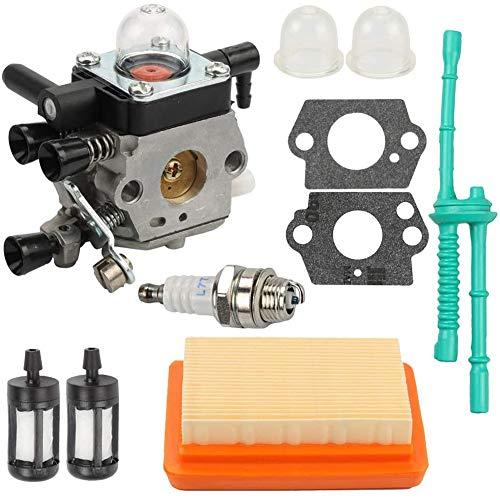 Fransande - Juego de carburador para motocultor MM55 MM55C 4601-120-0600 Pack de recambio Zama C1Q-S202A - Juego de sustitución de hidrato de carbono