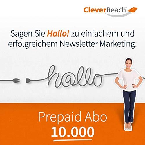 CleverReach Newsletter Software, Email Marketing Automation, Prepaid Abo 10.000,Web Browser, Kostenfreies Probeabo