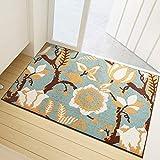 Indoor Door Mat Beautiful Fall Harvest Non Slip Absorbent Resist Dirt Entrance Rug Indoor Doormat Machine Washable Barrier Mat Dirt Trapper Low-Profile Inside Floor Door Mat Carpet 17.7' x 27.5'