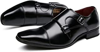 [Bageson] ビジネスシューズ メンズ 本革 紳士靴 革靴 ストレートチップ モンクストラップ 外羽根 営業マン オールシーズン 通気性