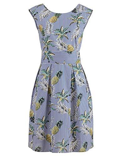 Alba Moda Strandkleid mit Perlen Bestickt blau-Weiss