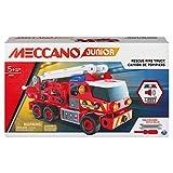 Meccano Junior, Camión de Bomberos de Rescate con Luces y Sonidos, Kit de construcción de Vapor, para niños a Partir de 5 años