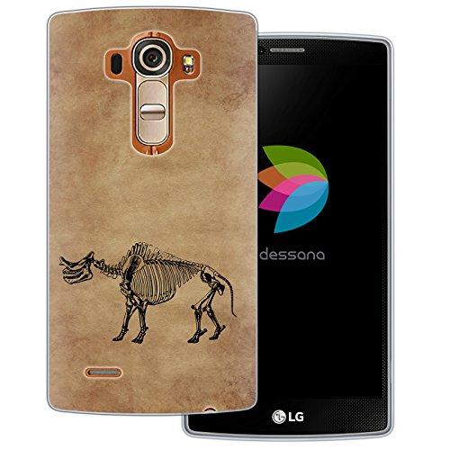 dessana Skelett dinosaurus transparante siliconen TPU beschermhoes 0,7 mm dunne mobiele telefoon soft case cover tas voor LG, LG G4, Fossil dinosaurus.