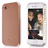 iPhone 7/8 Selfie Phone Case,LNtech Rechargeable LED Light Up Flash Lighting Selfie Case Illuminated Cover (Rose gold, iPhone7/8)