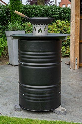 51SChATZaNL. SL500  - Feuerplatte | Grillring | Grillplatte | Plancha - Universalgröße für Stahlfässer, Öltonnen Stahltonnen oder große Kugelgrills - Der Neue Grill-Trend (Ø 100 Universal)