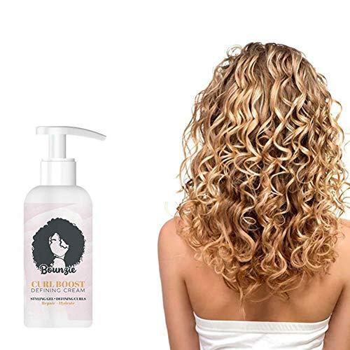 Crema Definidora de Rizos,Crema para rizos de 50 ml, crema hidratante acondicionadora para rizos, peinado para el cabello rizado, crema suavizante para rizos para cabello ondulado y rizado (ROSA)