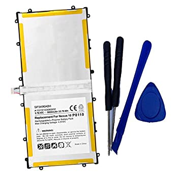 Toopower New 3.75V 33.75Wh Battery Replace for Samsung Google Nexus 10 N10 Table PC P8110 GT-P8110 HA32ARB SP3496A8H SP3496A8H 1S2P