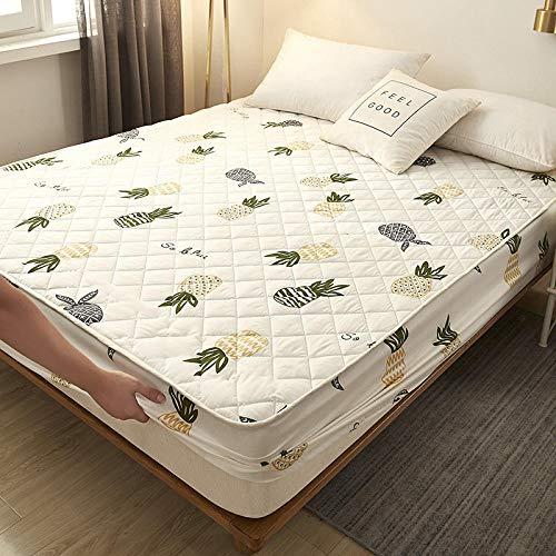 HPPSLT Protector de colchón - Protector de colchón antialérgico Sábana Gruesa Impermeable de una Sola Pieza-3_90cm × 200cm