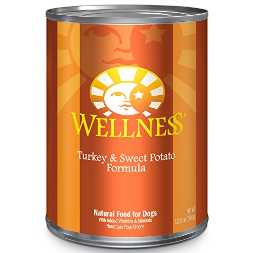 Wellness Complete Health Natural Wet Canned Dog Food Turkey & Sweet Potato, 12.5-Ounce Can (Pack of 12)