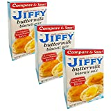 Jiffy Buttermilk Biscuit Mix - 3 Pack Bulk Bundle Jiffy Bisquit Mix (24 oz Total) Includes 3 packs of Jiffy buttermilk biscuit mix each weighing 8 oz for a total 24 oz of never ending baking fun. Enjoy making these fluffy buttermilk biscuits to eat w...