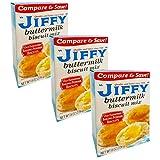 Jiffy Buttermilk Biscuit Mix - 3 Pack Bulk Bundle Jiffy Bisquit Mix (24 oz Total)