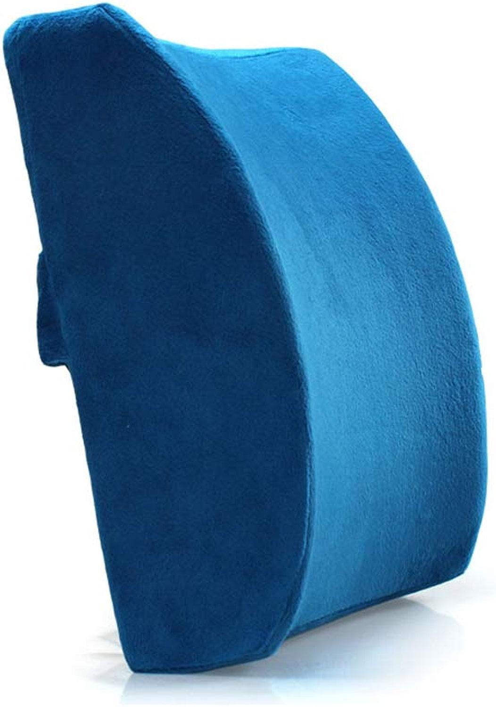 LJHA Coussin en coton à mémoire à rebond lent, coussin oreiller pour oreille chaude avec ame pour oreiller (6 couleurs) (Couleur   Bleu)