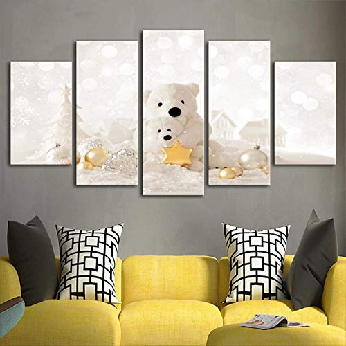 5 Paneles De Pared Cuadros De Moda Sala De Estar Decorativa Foto Abstracta Hd Póster Lienzo Pintura