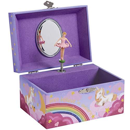 SONGMICS Caja de música con joyero, 14,8 x 10,6 x 8,5 cm