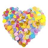 Inpion Coriandoli di Carta Rotonda Multicolore da 12000 Pezzi - coriandoli di Tessuto da 1 Pollice per Decorazioni di Palloncini per Matrimoni di Feste